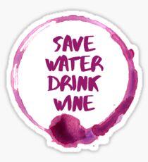 Save Water Drink Wine Stain Sticker