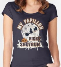 Papillon gift t-shirt for dog lovers Women's Fitted Scoop T-Shirt