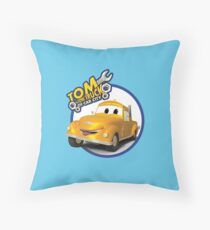 Tom the Tow Truck of Car City Throw Pillow