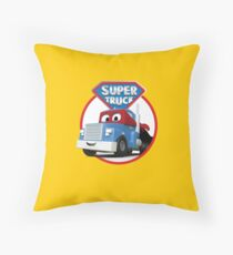 Carl the Super Truck of Car City Throw Pillow