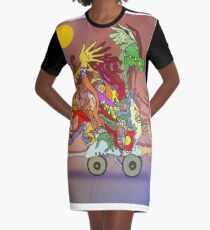 Fantasticated Transportation Authority Graphic T-Shirt Dress