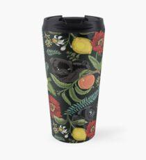 Botanical and Black Pugs Travel Mug