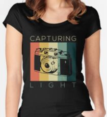 Retro Vintage Photographer Capturing Light Gift  Women's Fitted Scoop T-Shirt