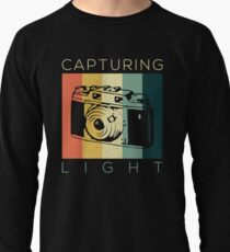 Retro Vintage Photographer Capturing Light Gift  Lightweight Sweatshirt