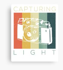Retro Vintage Photographer Capturing Light Gift T-Shirt Metal Print