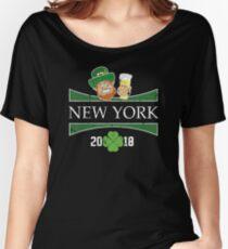 St Patrick Shirt New York St Patricks Day Birthday Shirt Women's Relaxed Fit T-Shirt