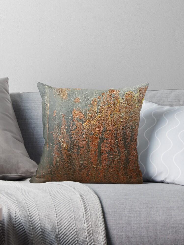 Sensational Dark Grey Rust Throw Pillow By Seller2018Kf Theyellowbook Wood Chair Design Ideas Theyellowbookinfo