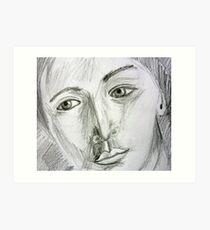 After Picasso - pencil portrait Art Print