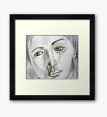 After Picasso - pencil portrait Framed Print