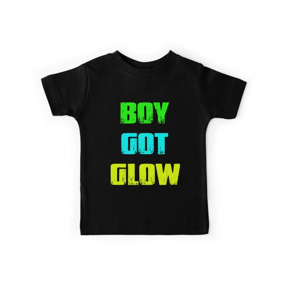 Boy Got Glow Party Shirt Neon 80s Birthday T Shirts