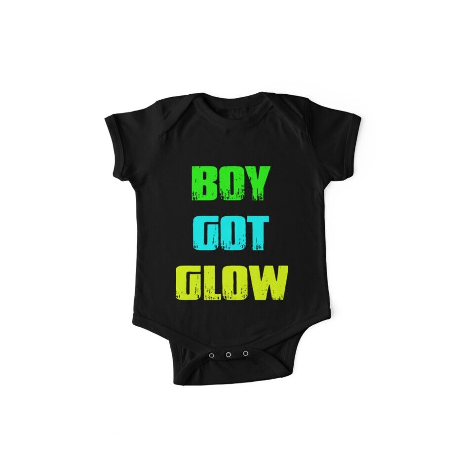 Boy Got Glow Party Shirt Neon 80s Birthday T Shirts Baby One Pieces By AngelaHughes