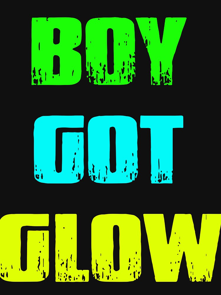 Boy Got Glow Party Shirt Neon 80s Birthday T Shirts By AngelaHughes