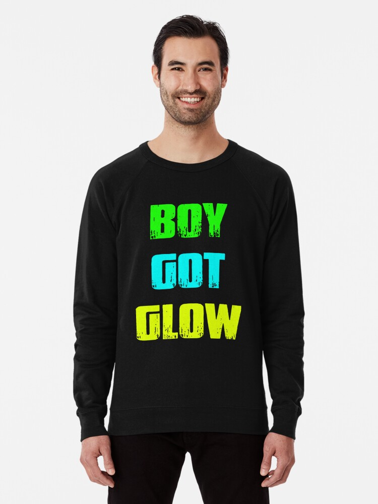 Boy Got Glow Party Shirt Neon 80s Birthday T Shirts Lightweight Sweatshirt