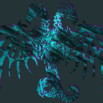 AQUA SHADOWS 2 HEADED DRAGON by SK8N