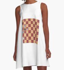 Chess, play chess, chess piece, chess set, chess master A-Line Dress