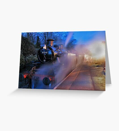Evening Train Greeting Card