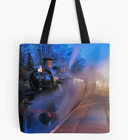 Evening Train Tote Bag