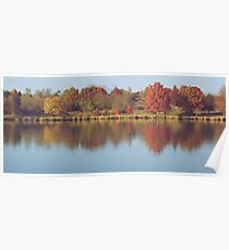 The Colors of Fall on the Lake Poster