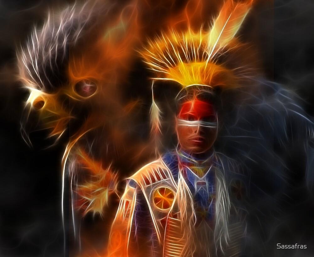 The Spirit of Honor~ A collaborative art with WayoftheWarrior by Sassafras