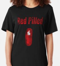 Team Qanon Q+ Red Pilled Slim Fit T-Shirt