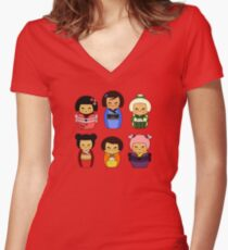 kokeshis Fitted V-Neck T-Shirt