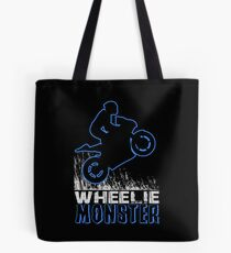 Wheelie Monster Blue Tote Bag