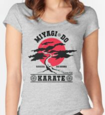 Karate Kid - Mr Miyagi Do Red Variant Women's Fitted Scoop T-Shirt