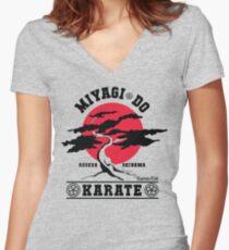 Karate Kid - Mr Miyagi Do Red Variant Women's Fitted V-Neck T-Shirt