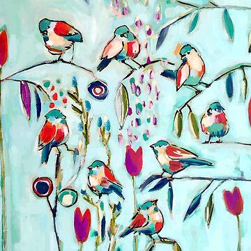 birds blue sky by claravox