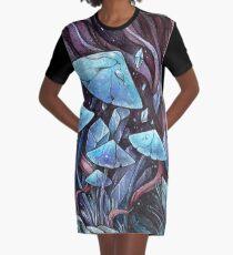 Mushrooms & Crystals Graphic T-Shirt Dress