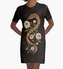 Sorts de serpent Robe t-shirt
