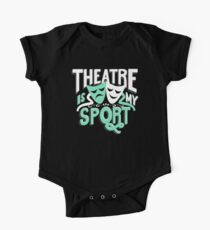 Theatre Is My Sport Lettering One Piece - Short Sleeve
