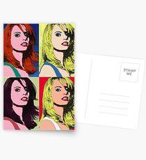 Girl's Head Warhol style (Photo) Postcards