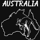 Australia Country Map And Kangaroo by lo-qua-t