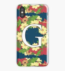 Personalized Flower Design - Names Beginning with G iPhone Case