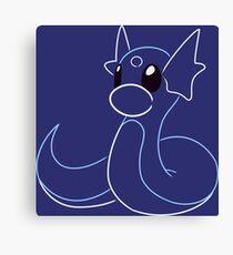 Minimalist Dragon Pokemon - Basic Canvas Print