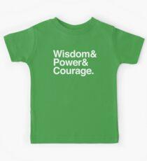 Wisdom & Power & Courage. Kids Tee
