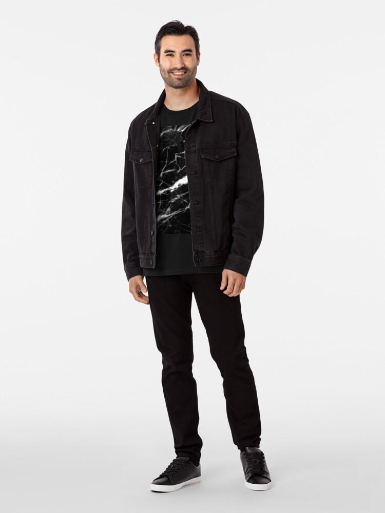 Alternative Ansicht von abstrakter moderner schicker minimalistischer grauer schwarzer Marmor Premium T-Shirt