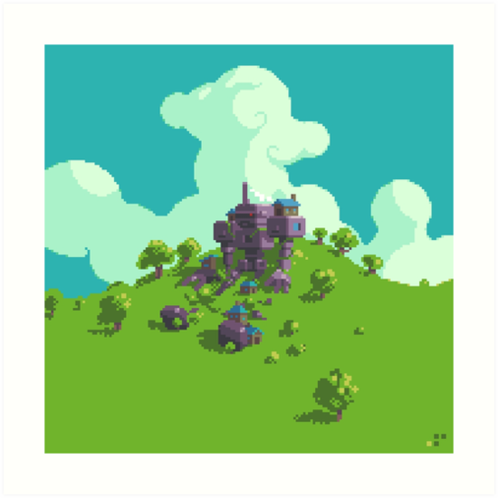 Giant Robo Village by Slynyrd