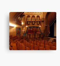 Interior of Mabel Tainter Theater Canvas Print