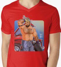 CARLOS LIKES CARS Men's V-Neck T-Shirt