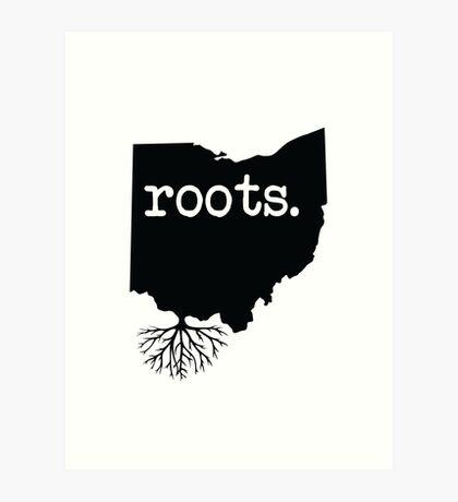 Ohio Wurzeln Kunstdruck