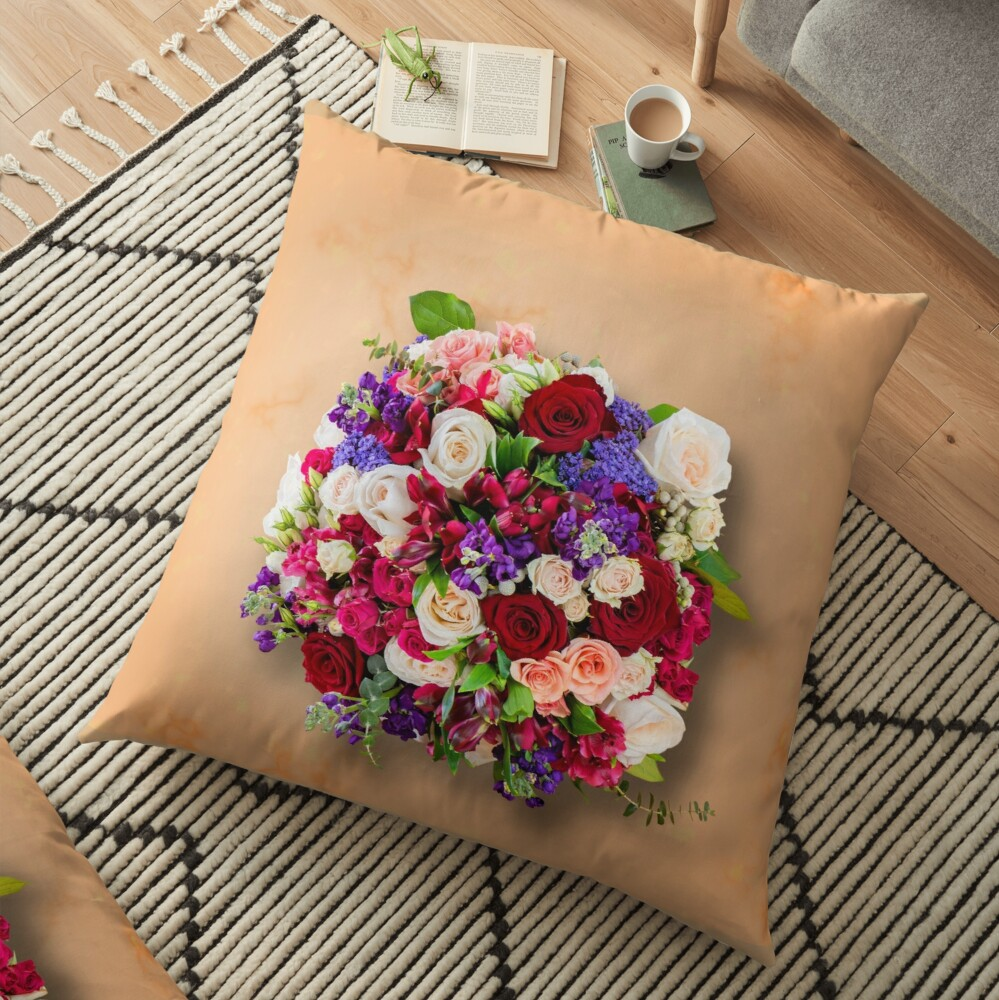 Festival of colors Floor Pillow