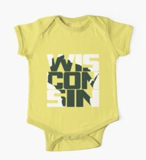 Wisconsin, USA Short Sleeve Baby One-Piece