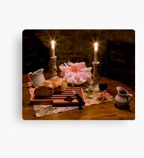 Bread, Wine, and Peony Canvas Print