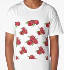 pattern of raspberries Long T-Shirt