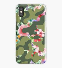 Floral camouflage iPhone Case