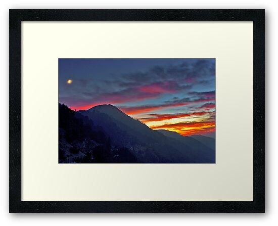 Glendora Ridge Moon Rise by photosbyflood