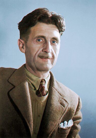 George Orwell by Cassowary Colorizations