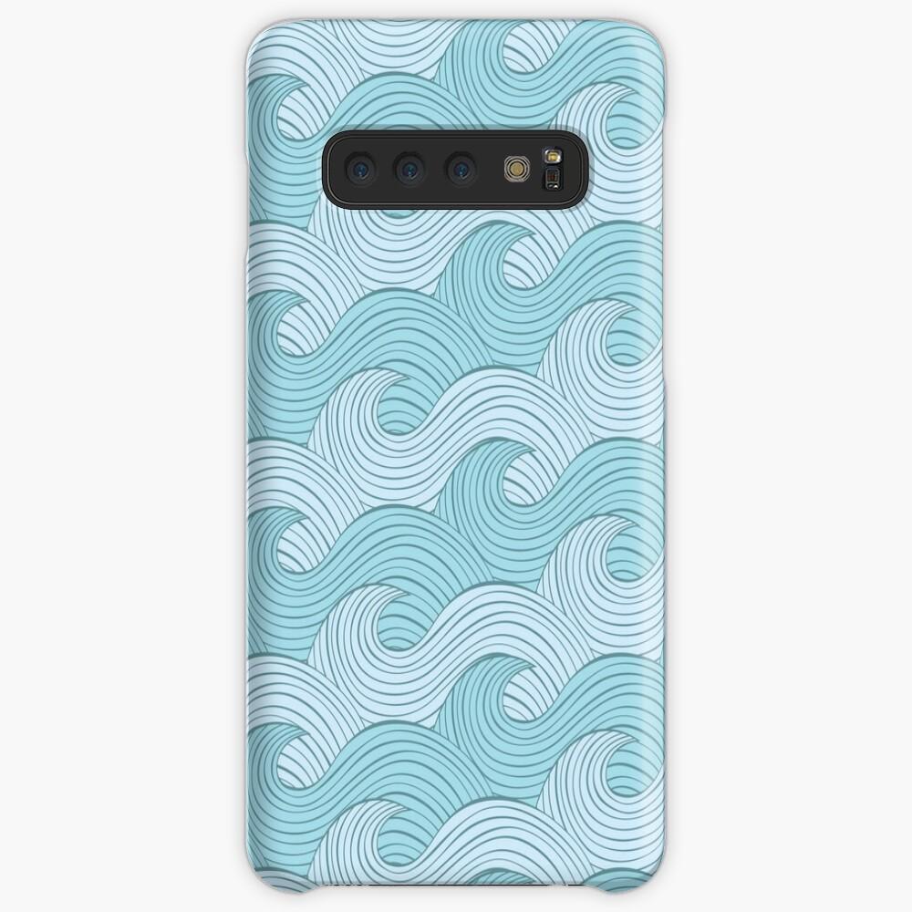 Blue Sea Waves Funda y vinilo para Samsung Galaxy